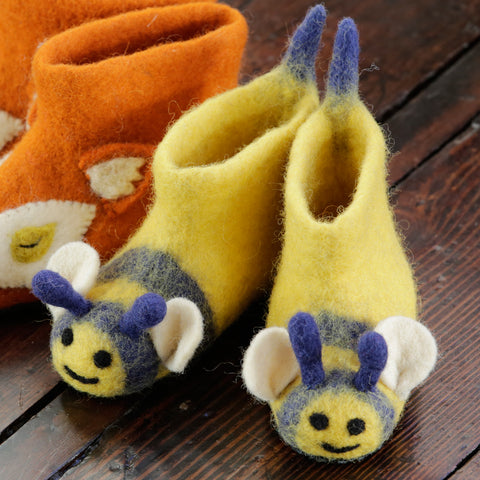 Piccalilly Bumblebee Slippers