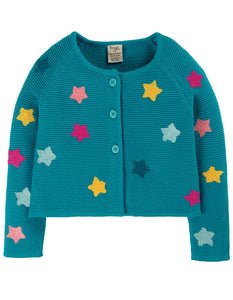 Frugi Emilia Embroidered Cardigan - Stars