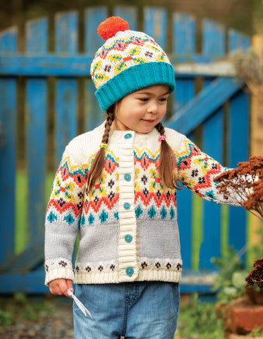 Frugi Flossie Fairisle Cardigan - Tin Roof Fairisle