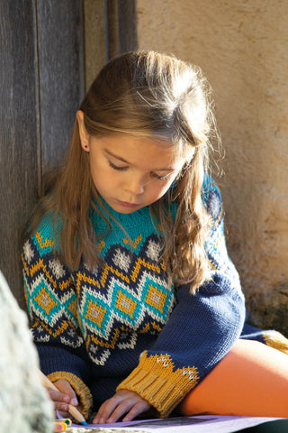 Frugi Fyfe Fairisle Jumper - Bumble Bee Fairisle