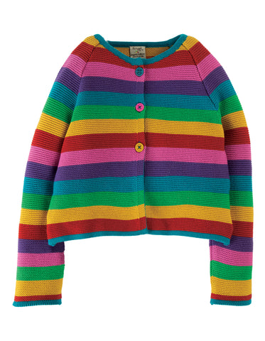 Frugi Rainbow Swing Cardi - Rainbow
