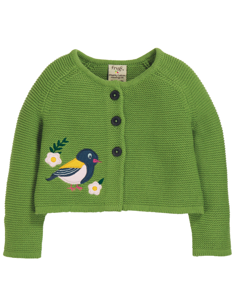 Frugi Annie Applique Cardigan - Meadow/Finch - Tilly & Jasper