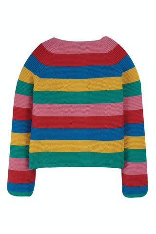 Frugi Rainbow Swing Cardi - Rainbow Stripe