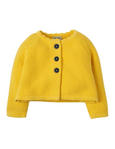 Image of Frugi Carrie Knitted Cardigan - Sunshine