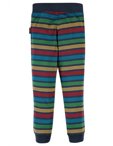 Image of Frugi Favourite Cuffed Leggings - Tobermory Rainbow stripe