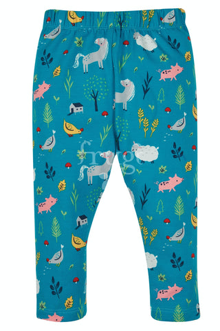 Image of Frugi Libby Printed Leggings - Farmyard