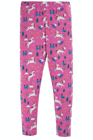 Frugi Libby Printed Leggings - Unicorns