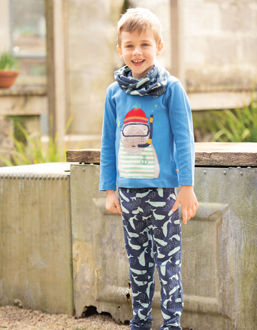 Frugi Leap About Cuffed Legging - A Whale Of A Time