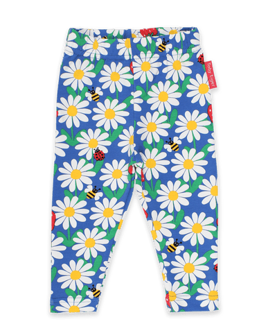 Toby Tiger Blue Daisy Print Leggings