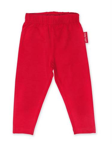Toby Tiger Organic Red Basic Leggings
