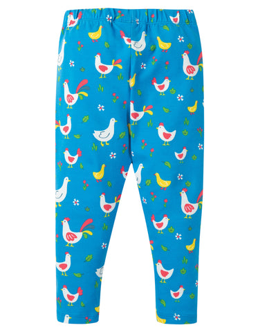 Image of Frugi Libby Printed Leggings - Bantam Chickens