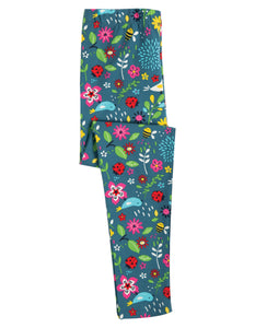 Frugi Libby Printed Leggings - Garden Friends