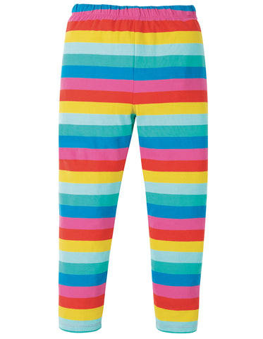 Image of Frugi Libby Printed Leggings - Flamingo Multi Stripe