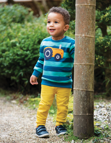 Image of Frugi Cuffed Leggings - Sunflower