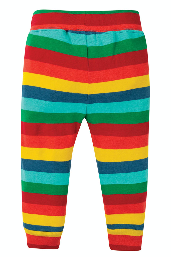 Frugi Cuffed Leggings - Steely Blue Multi Stripe