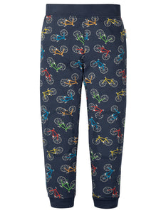 Frugi Leap About Legging - Indigo Rainbow Rides
