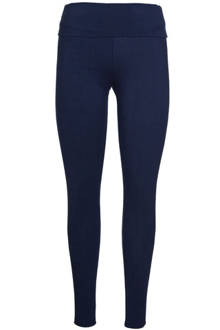 Frugi Roll Top Yoga Pants - Indigo