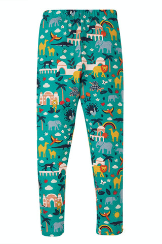 Image of Frugi Libby Printed Leggings - Jewel India