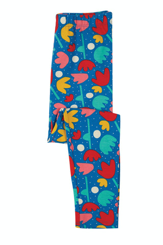 Frugi Libby Printed Leggings - Lotus Bloom