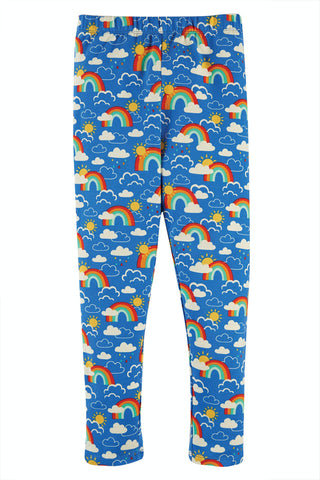 Frugi Libby Printed Leggings - Rainbow Skies