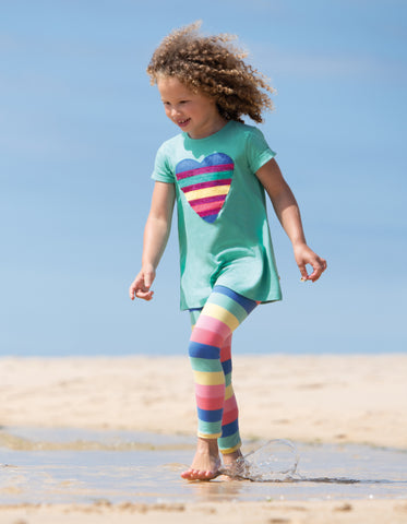 Frugi Libby Striped Leggings - Bright Rainbow Stripe