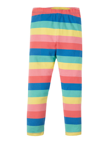 Frugi Libby Striped Leggings - Bright Rainbow Stripe - Tilly & Jasper