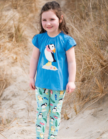 Frugi Libby Printed Leggings - St Agnes Paddling Puffins