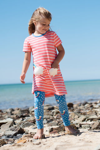 Image of Frugi Libby Printed Leggings - Over The Rainbow - Tilly & Jasper