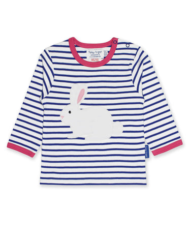 Image of Toby Tiger Breton Rabbit Applique LS T-Shirt