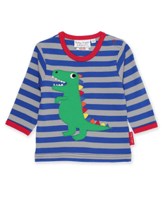 Toby Tiger  T-Rex Applique LS T-Shirt