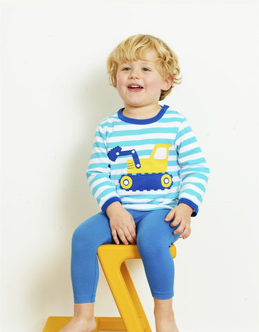 Toby Tiger Organic Blue Basic Leggings