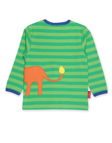 Image of Toby Tiger Walking Lion Applique LS T-Shirt
