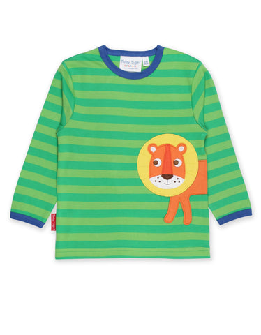 Toby Tiger Walking Lion Applique LS T-Shirt