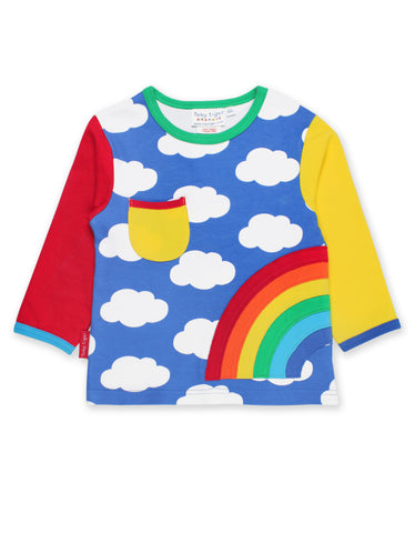 Toby Tiger Rainbow Applique LS T-Shirt