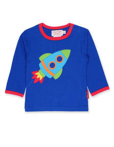 Toby Tiger  Rocket Applique LS T-Shirt