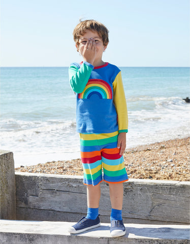 Image of Toby Tiger New Rainbow Applique LS T-Shirt