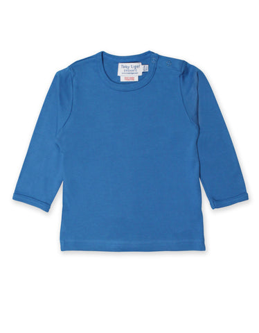 Toby Tiger Blue Basic LS T-Shirt
