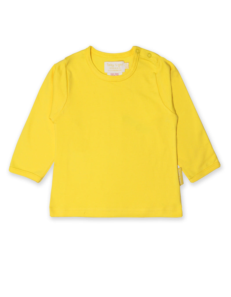 Toby Tiger Yellow Basic LS T-Shirt