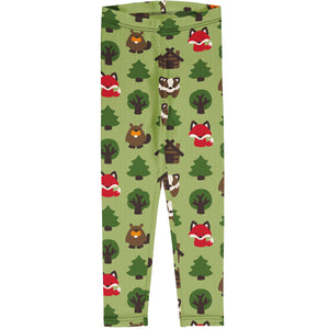 Maxomorra Leggings - Green Forest