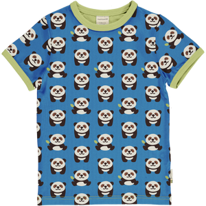 Maxomorra Short Sleeve Top - Playful Panda