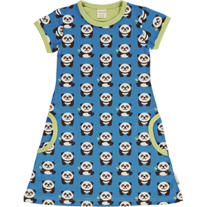 Maxomorra Short Sleeve Dress - Playful Panda