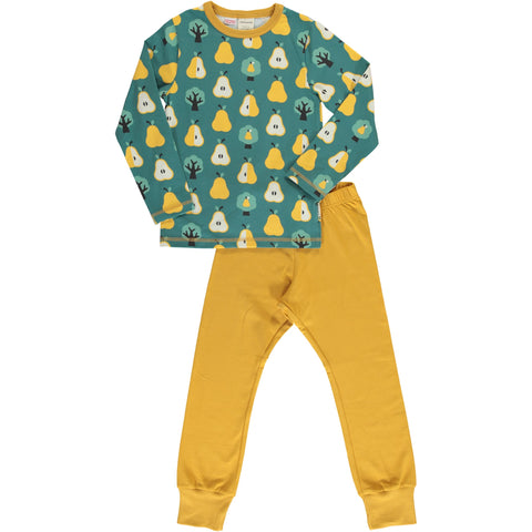 Maxomorra Long Sleeve Pyjama Set - Golden Pear