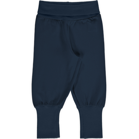 Maxomorra Rib Pants - Navy