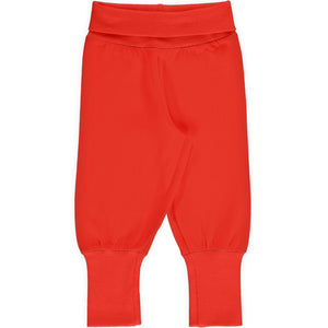 Maxomorra Rib Pants - Poppy