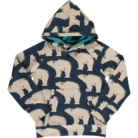 Maxomorra Hooded Sweatshirt - Polar Bear