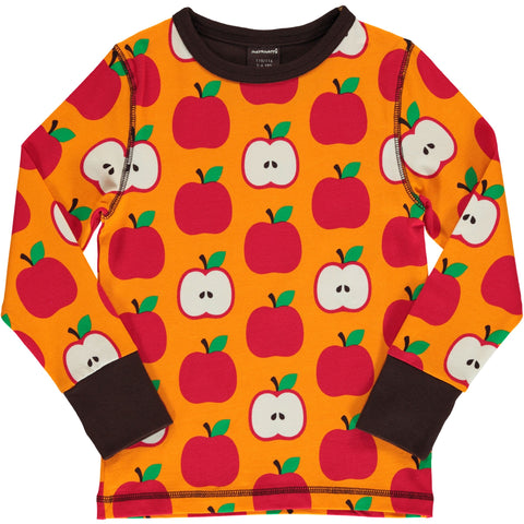 Maxomorra Long Sleeve Top - Apple