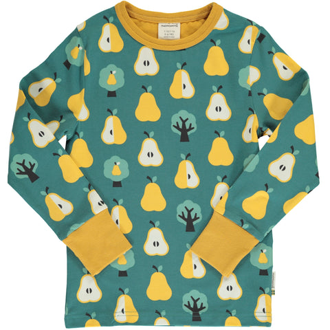Maxomorra Long Sleeve Top - Golden Pear