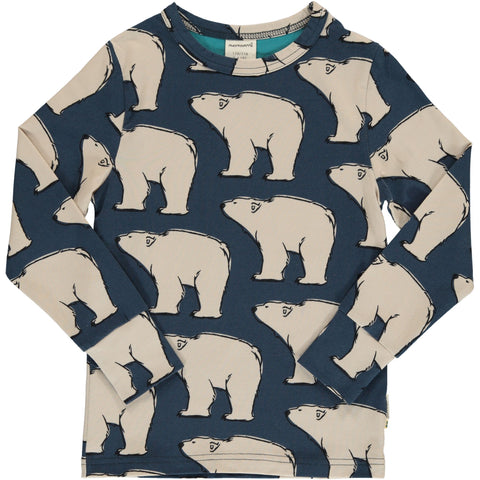 Maxomorra Long Sleeve Top - Polar Bear
