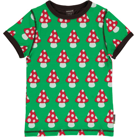 Maxomorra Short Sleeve Top - Mushroom