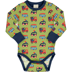 Maxomorra Long Sleeve Body - Colourful Cars